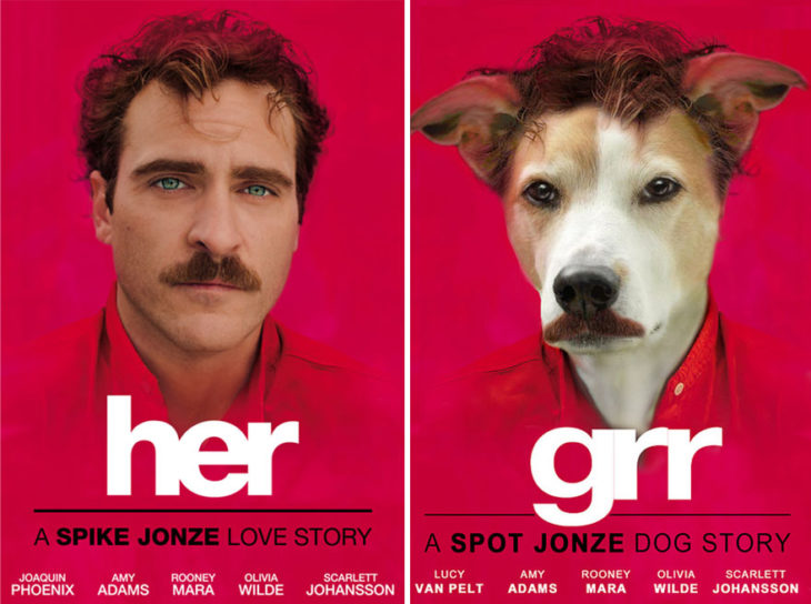 Her póster con perro como protagonista