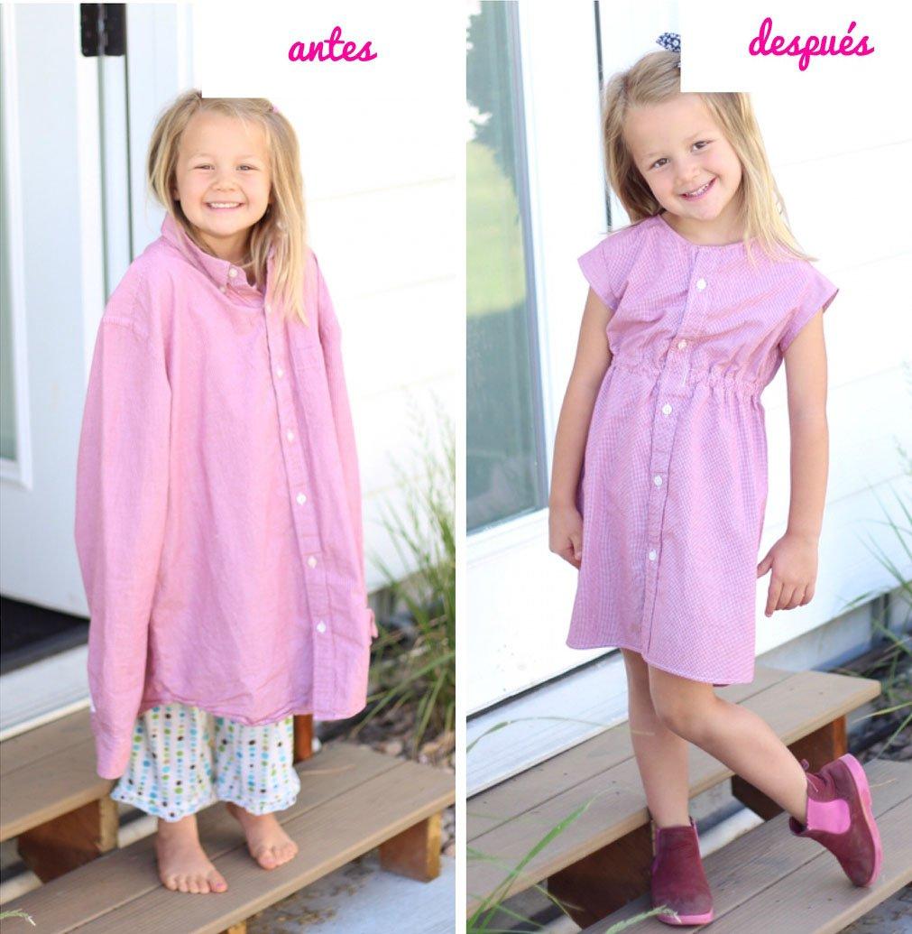 Creativa mamá transforma la ropa vieja en hermosos vestidos