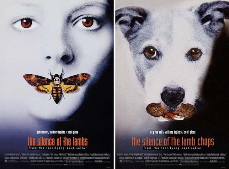 The silence of the lambs póster con perro como protagonista