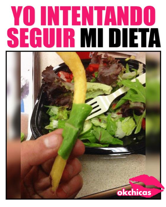 Yo intentando seguir mi dieta