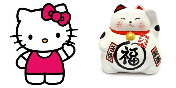 Kitty inspirado en gato que saluda