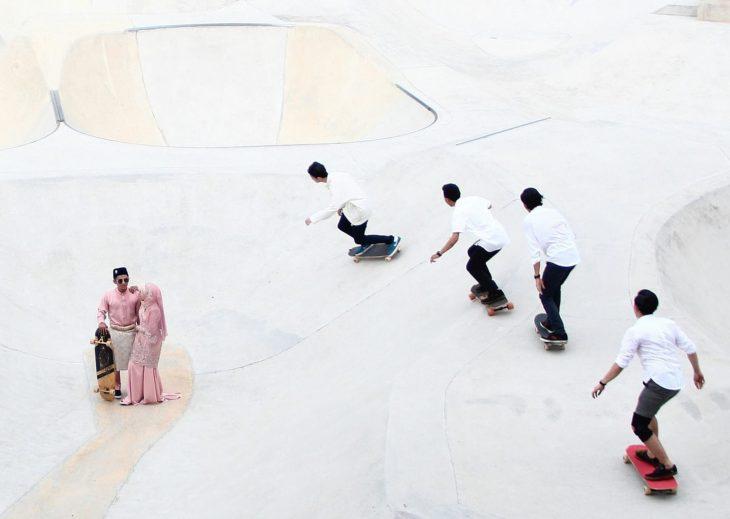 pareja de patinadores casados
