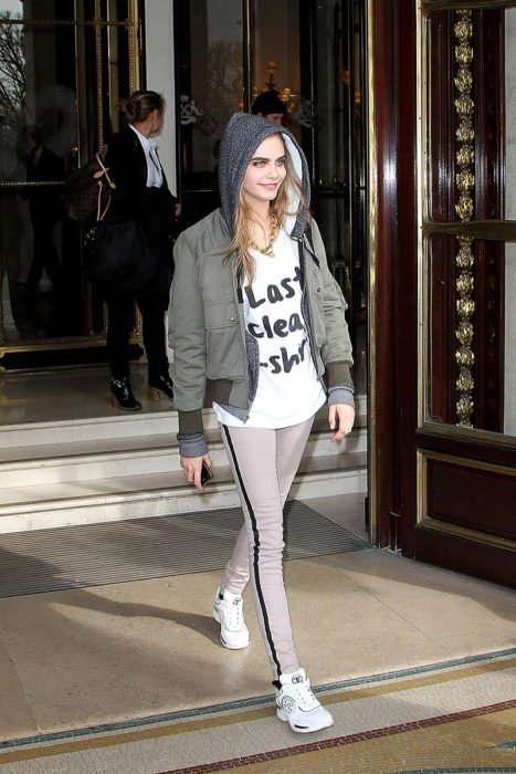 cara delevigne fitness style