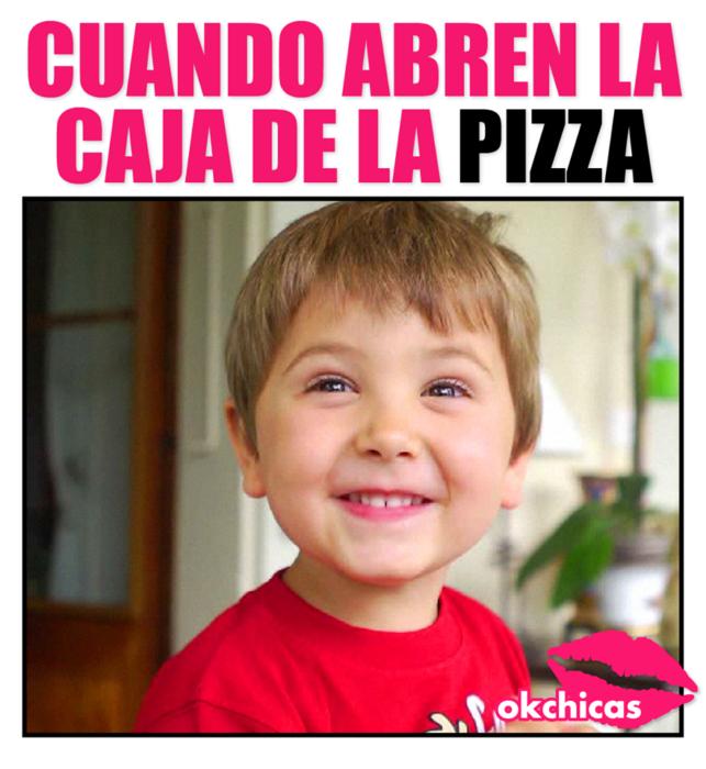 cuando abren la caja de pizza