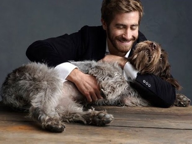 Jake Gyllenhall y Atticus su perro