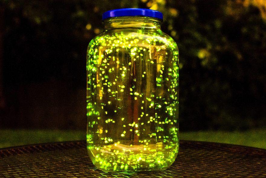 Mason Jar Lava Lamp