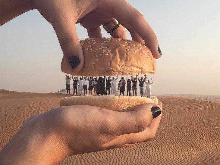 hamburguesa de personas