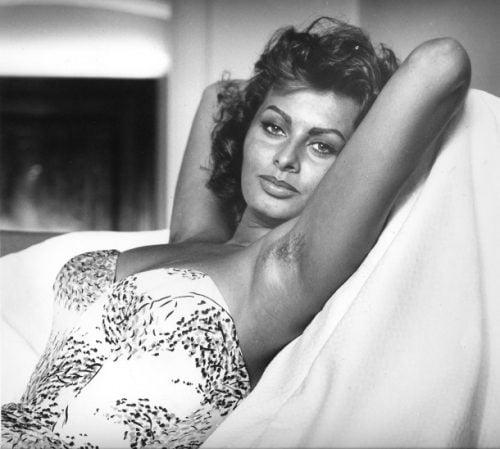 Sophia Loren axilas velludas