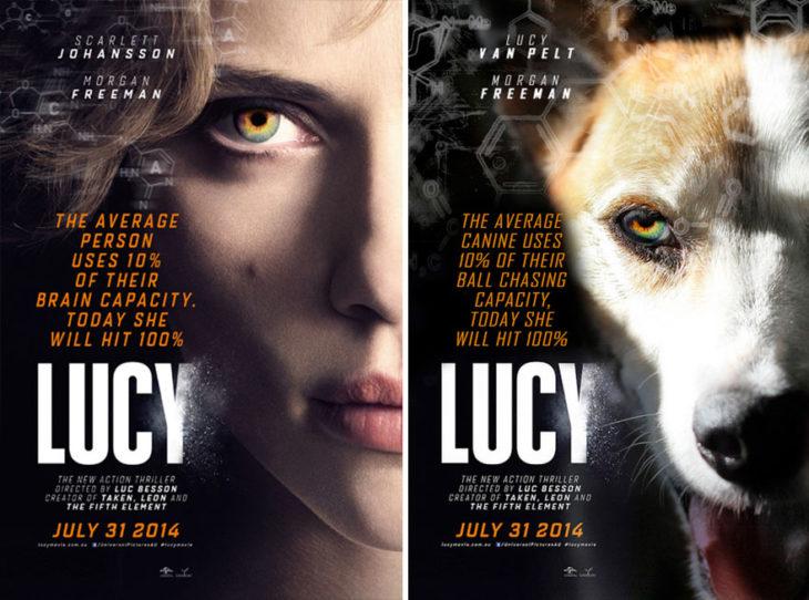 lucy póster con perro como protagonista