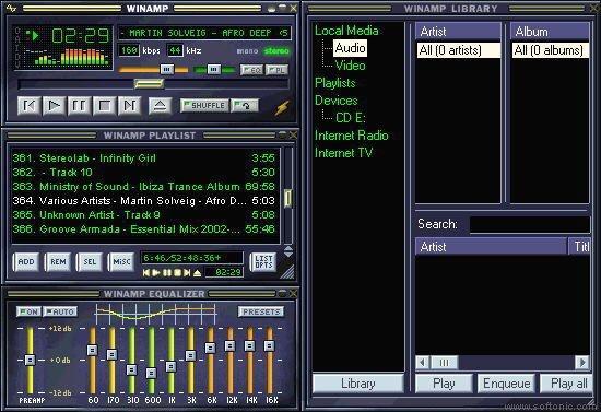 Winap programa para escuchar música