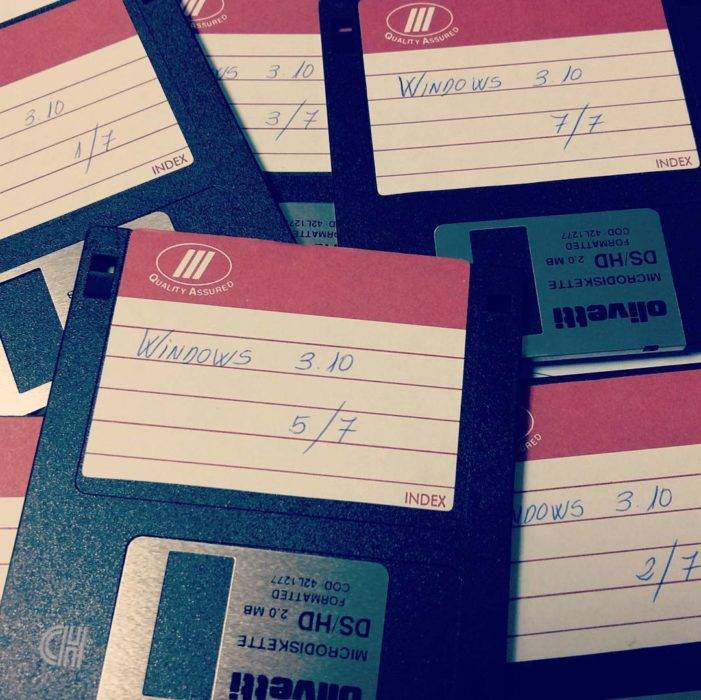 Disquettes para guardar archivos