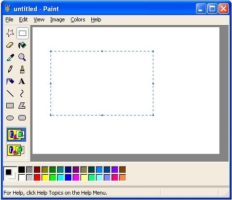 Paint de microsoft 1990