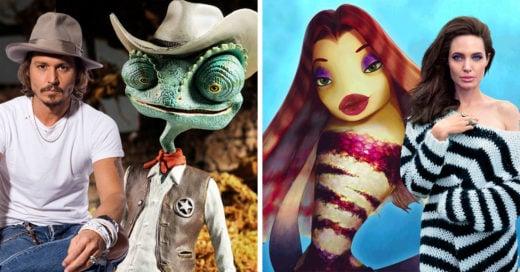 20 Personajes de animación inspirados en celebridades de Hollywood
