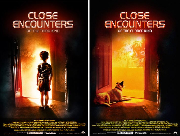 close encounters póster con perro como protagonista