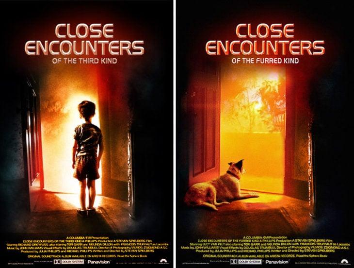 close encounters póster con perro como protagonista