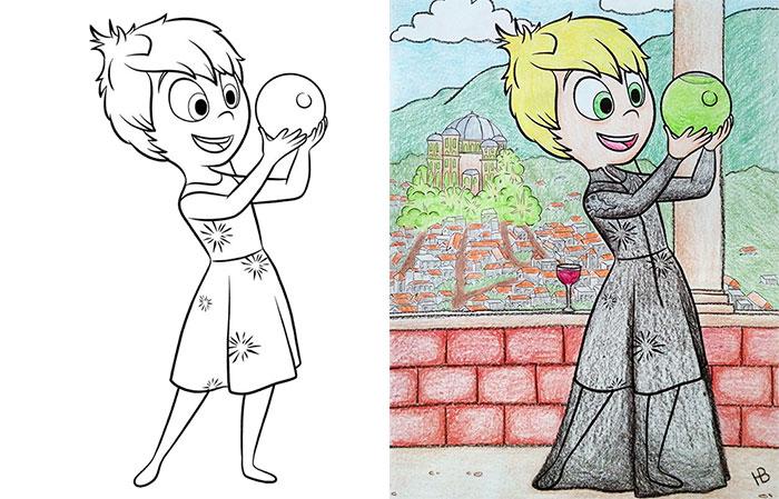Dibujos coloreados por adultos cersei alegría lannister