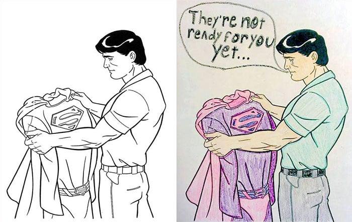 Dibujos coloreados por adultos supergay