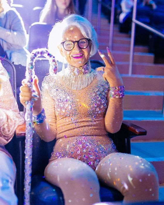 Baddie winkle durante los premios de MTV