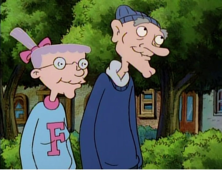 Abuelos de la caricatura Hey Arnold!