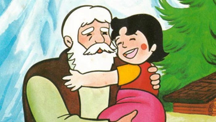 escena de la caricatura de Heidi