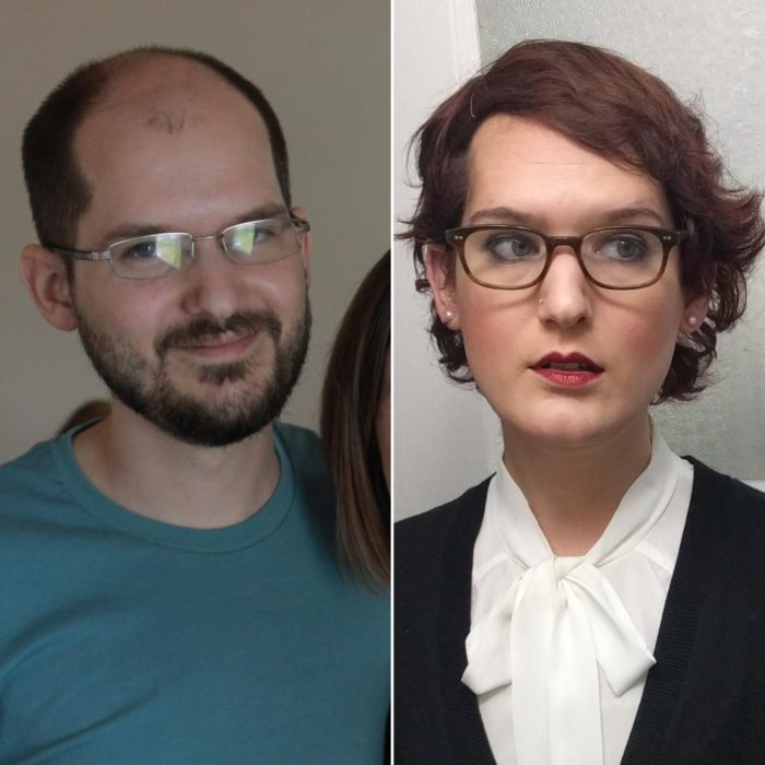 Personas mostrando la increíble transición antes y después de su cambio de sexo