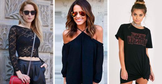 15 Blusas de color negro que merecen un lugar especial en tu guardarropa
