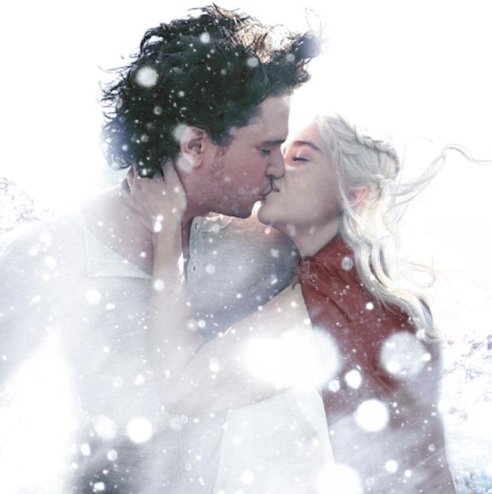 Jon y Daenerys besandose fake