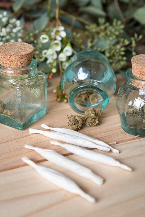 boda con una barra de cannabis para disfrutar de la fiesta