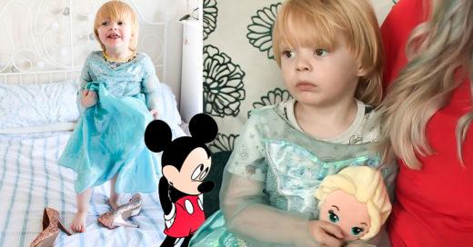 portada niño disfrazado princesa de Disney