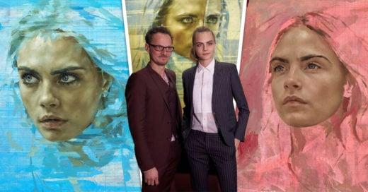 Cara Delevingne, modelo, actriz y ahora es la musa del pintor Jonathan Yeo