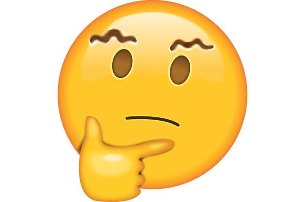 Emoji con las cejas onduladas