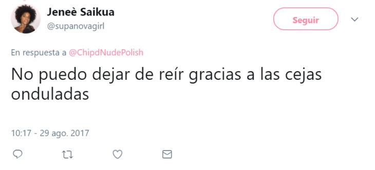 Reacciones de las personas en twitter por las cejas onduladas