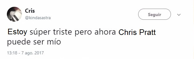 Tuit sobre el divorcio de Chris Pratt