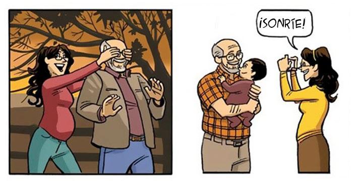 hombre convirtiéndose en abuelo