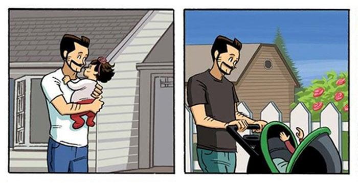 padre paseando a su hija