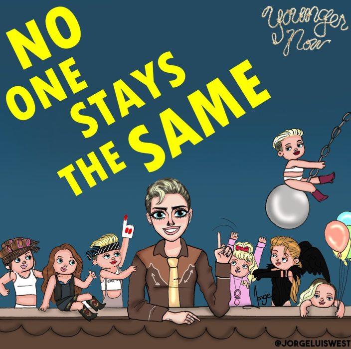 ilustracion diferentes Miley Cyrus