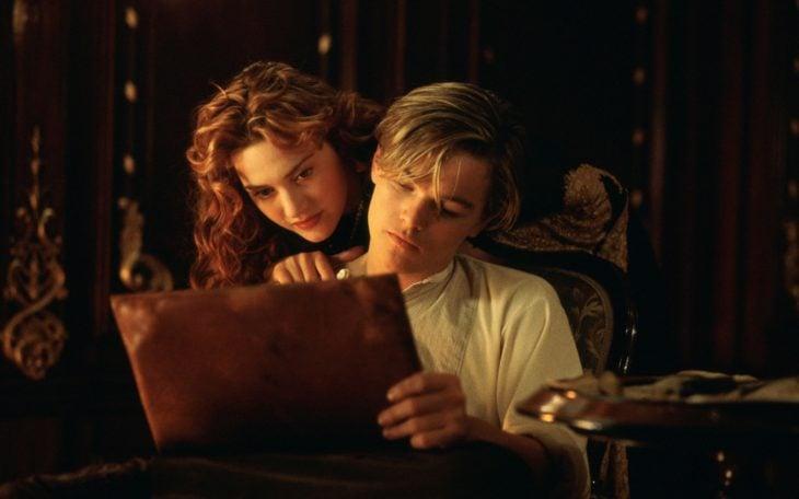 Escena de la película Titanic