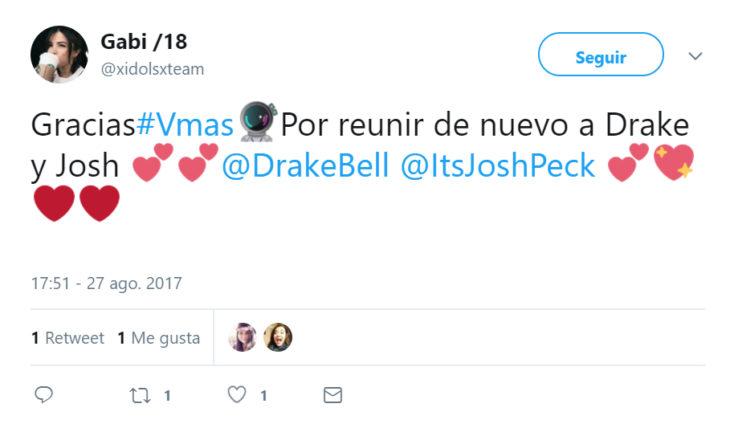 Comentarios en Twitter sobre el reencuentro de Drake y Josh