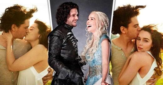 Esta sesión de fotos de Emilia Clarke y Kit Harington besándose se esta volviendo viral