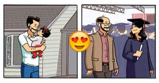 Este comic sobre la relación entre padre e hija cambiará tu forma de ver la vida