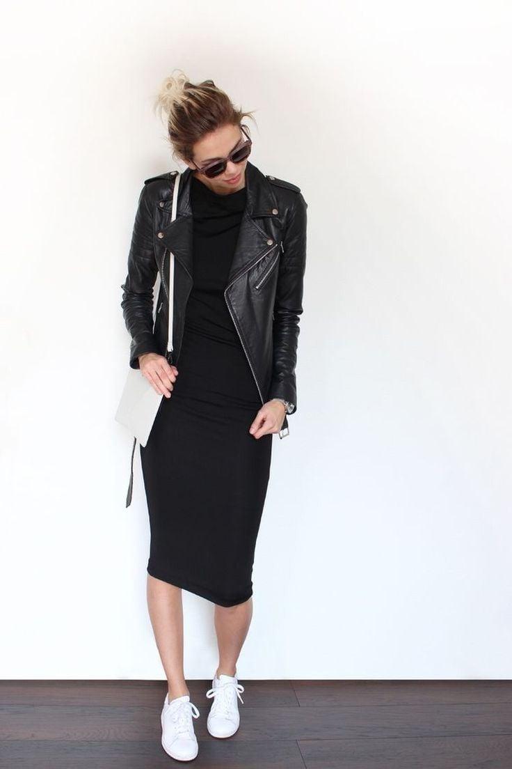 Zapatos para combinar vestido negro con blanco