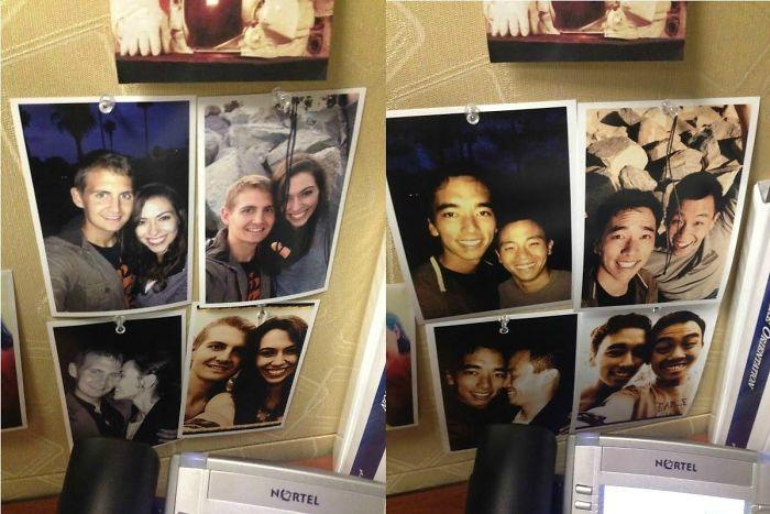 fotografías de pareja en la pared