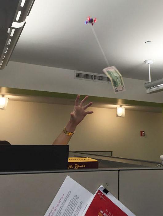 billete volando