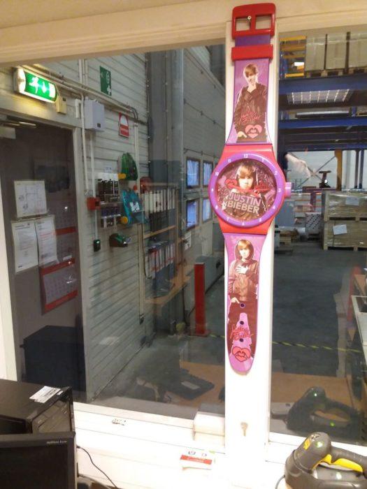 reloj enorme de Justin Bieber
