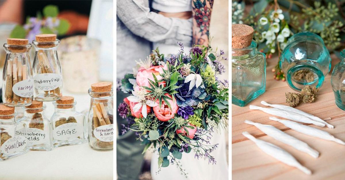 Las bodas le dicen adiós a los dulces y hola al cannabis