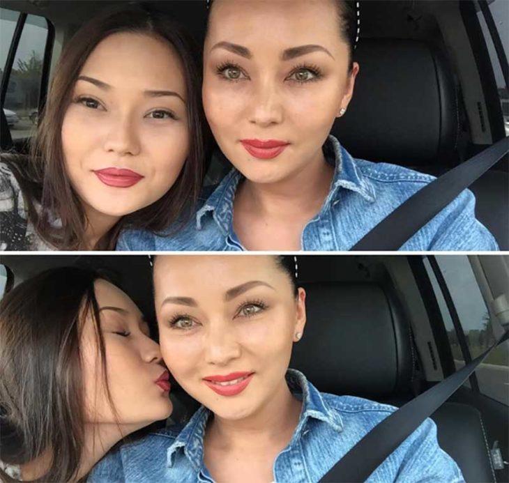 chicas a bordo de un automovil
