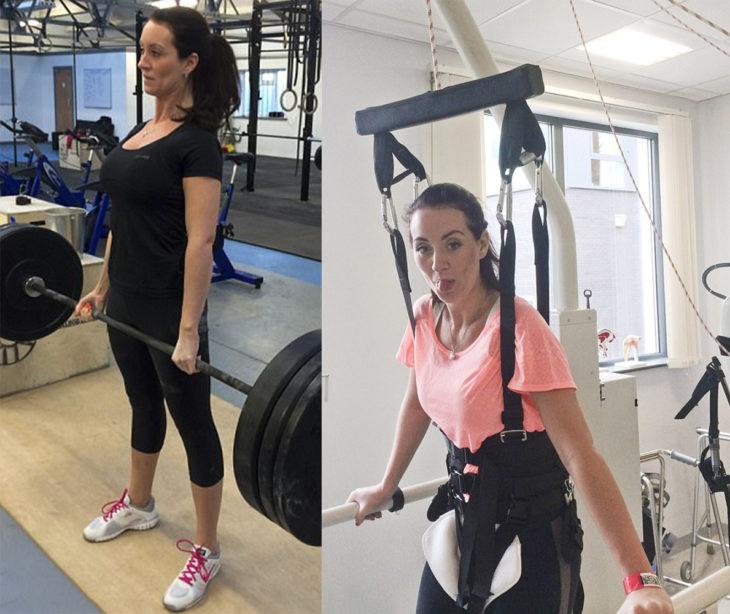 Mujer paralizada de la cintura hacia abajo ahora puede caminar
