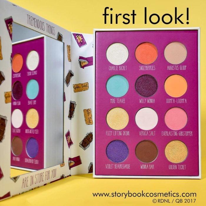 paleta de maquillaje de colores