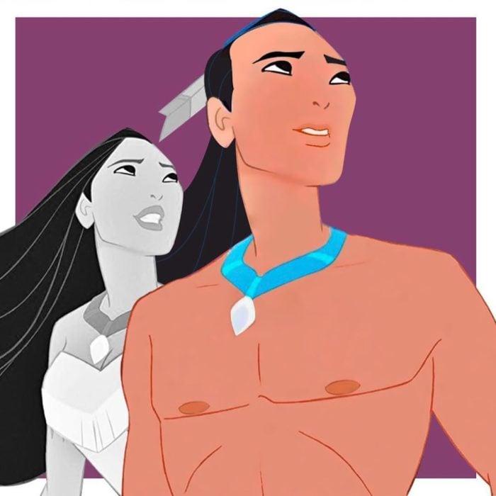 Pocahontas Ariel en su versión transgénero