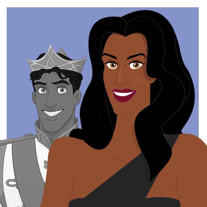princípe naveen Ariel en su versión transgénero
